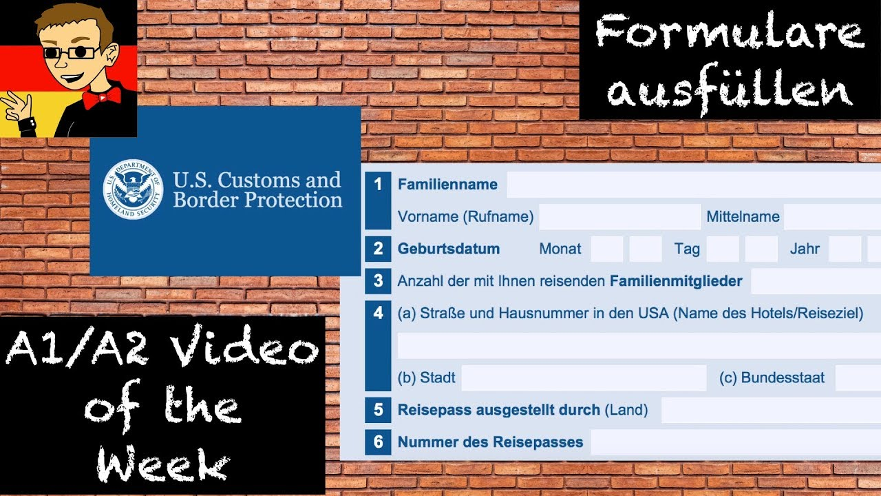 German for beginners 6 how to fill out a form youtube learngerman deutschlernen germanwithantrim thecheapjerseys Gallery