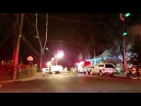 Scarsdale Fire Department Battles Massive House Fire In Scarsdale, New York
