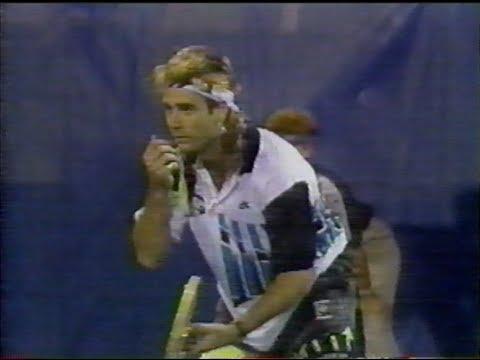 US Open 1990 highlights quarterfinals, Agassi, Becker ...