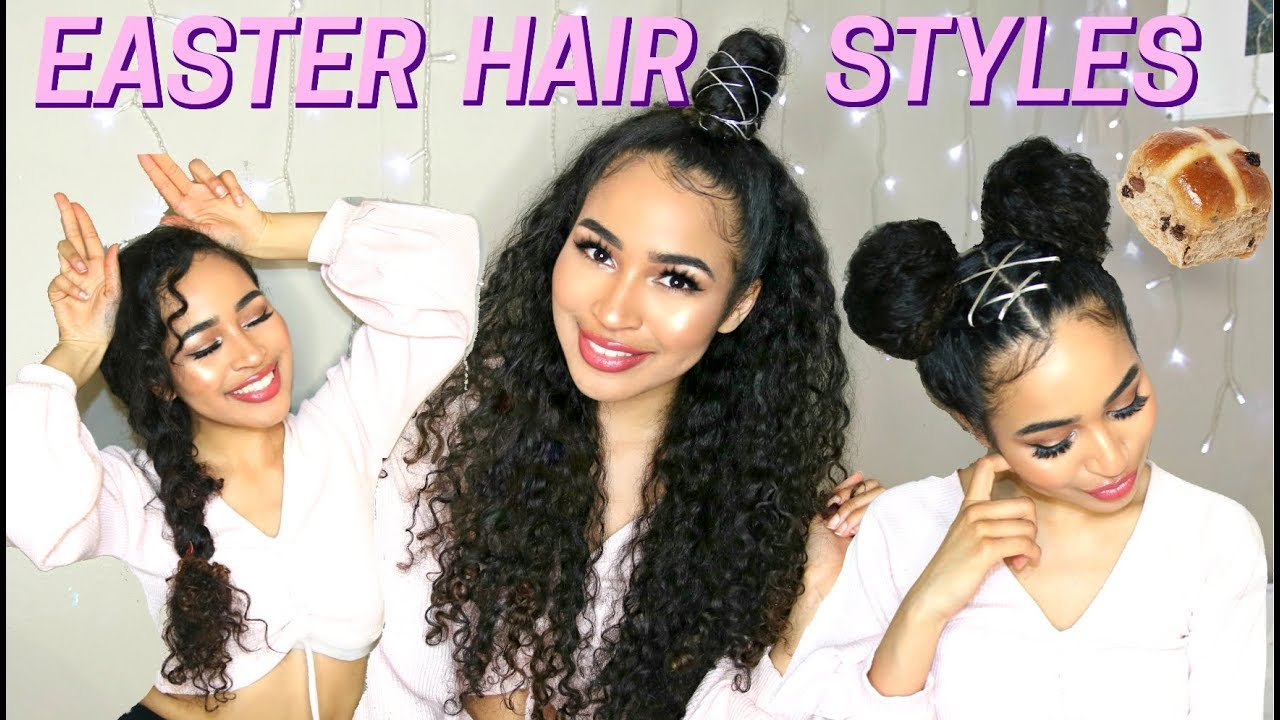 3 Fun Easter Hairstyles For Naturally Curly Hair Spring Hairstyles By Lana Summer