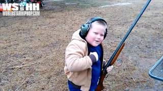 Southern Kid Experiences Shotgun Recoil After Shooting