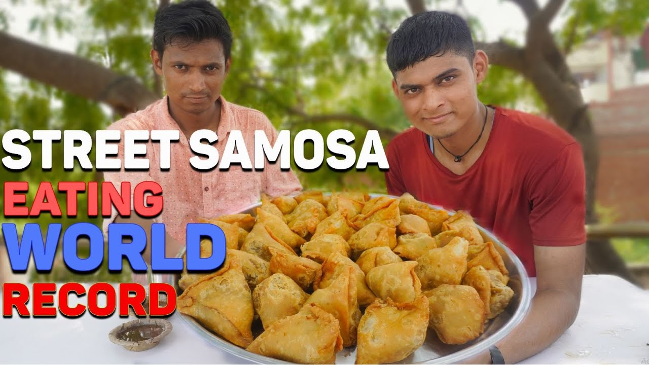 Indian Street Samosa Eating ( World Record ) Breaking Records 16 Sec + 5 Minute | Food Challenge