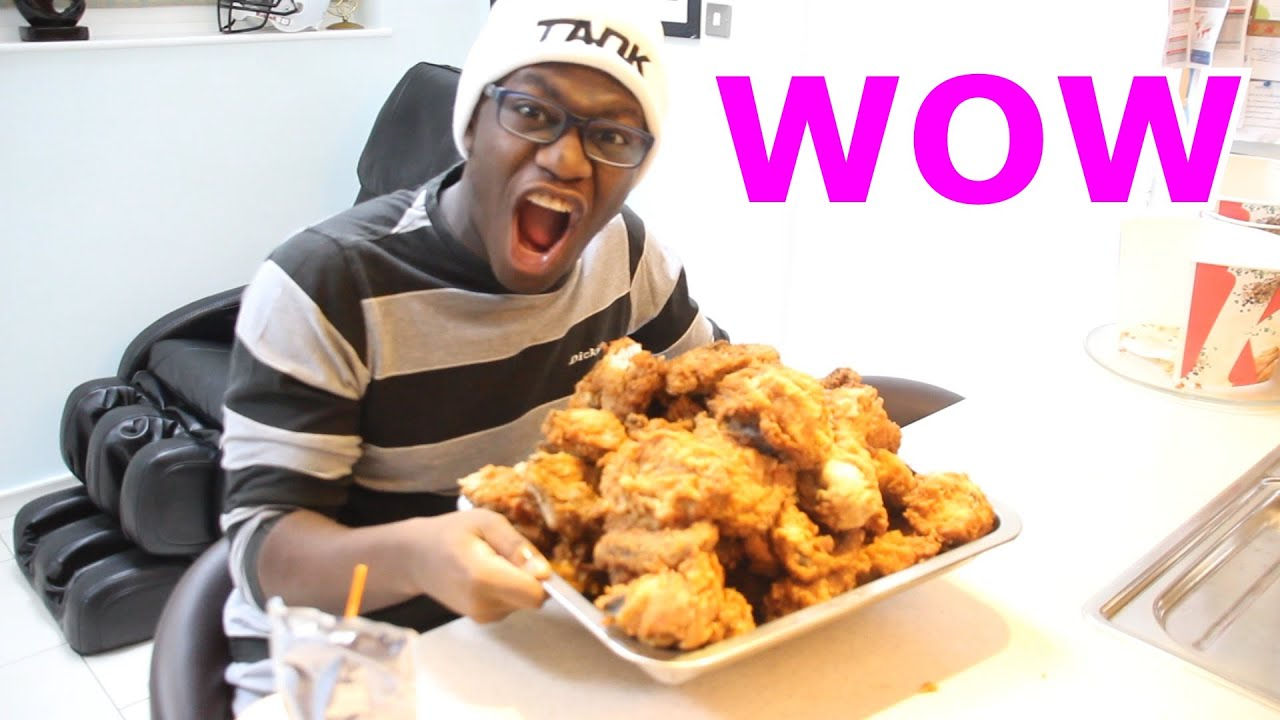 Kfc Black Person: Eating 100 Pieces Of KFC Chicken