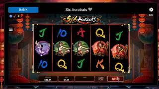 Six Acrobats - Online Canadian Slot - Big Wins and Bonuses (Part 3)