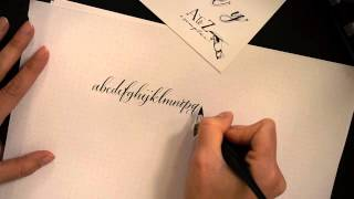 Calligraphy Lowercase Alphabet by Antiquaria