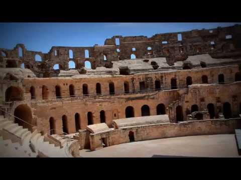 Ancient Roman amphitheatre of El Djem in Tunisia