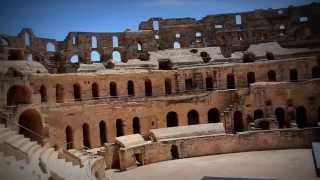 Ancient Roman amphitheatre of El Djem in Tunisia