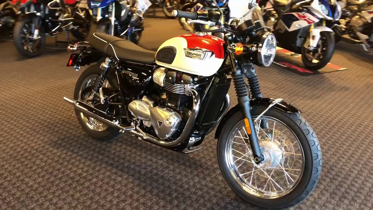2017 Triumph Bonneville T 100 Orange White Walk Around At Frontline