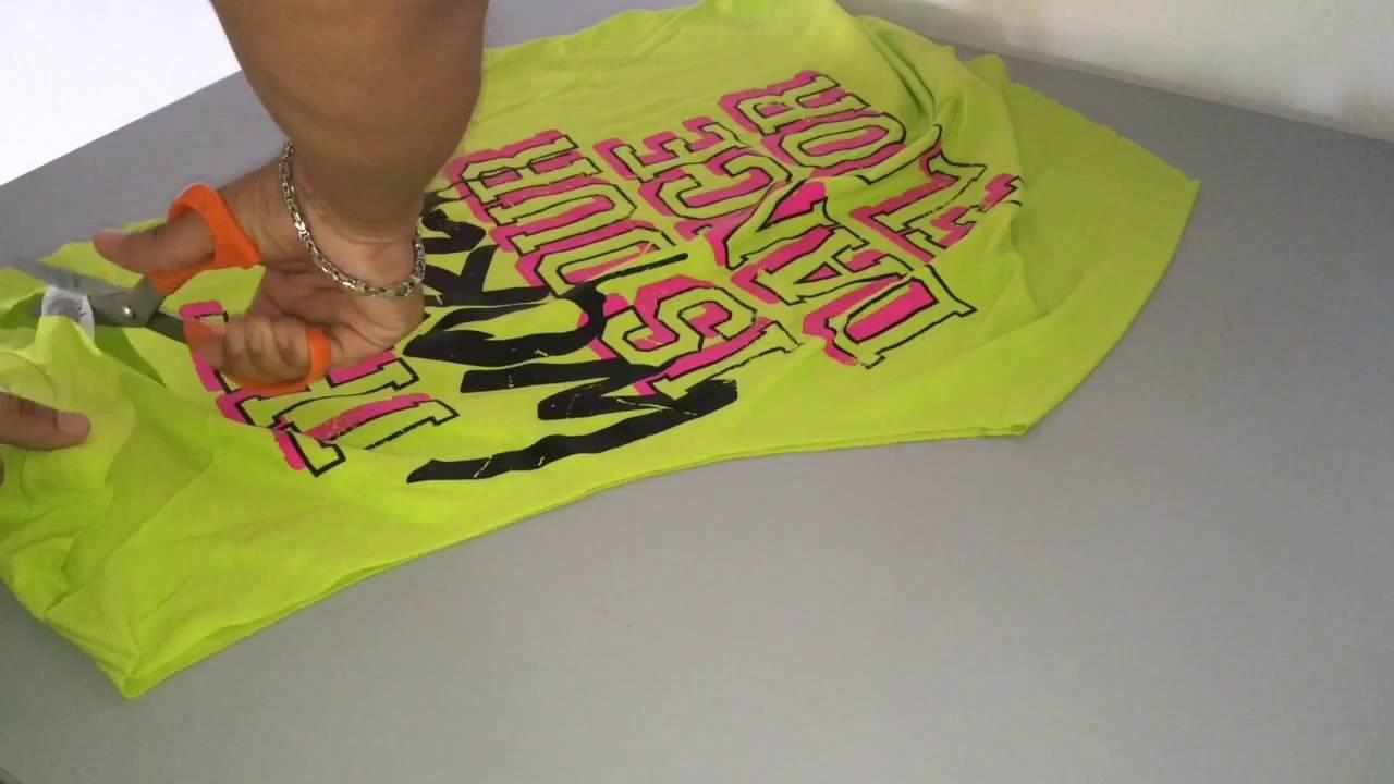 T-shirt design for zumba - Diy Cutting T Shirt For Zumba Class Spanish