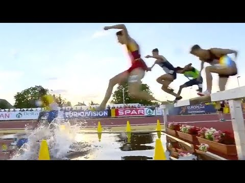 Boys 2000m Steeplechase at U18 European Champ - Győr 2018