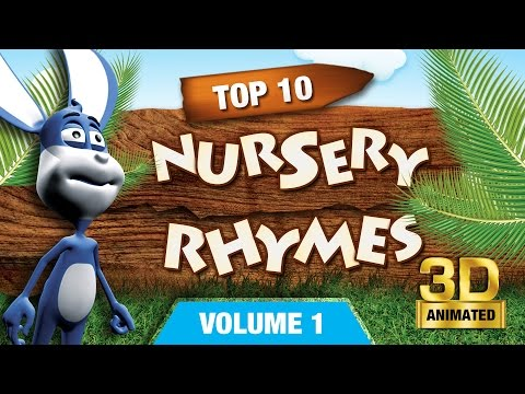 Top 10 Nursery Rhymes Collection 1 | Nursery Rhymes Poems With Lyrics | 3D Nursery Rhymes For Kids