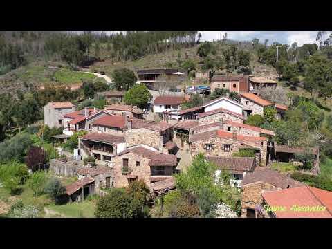 Casal de São Simão e Fragas de São Simão, Figueiró dos Vinhos. Aerial View, Drone 4K