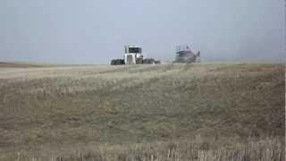 Big Bud 525/50 4wd tractor seeding in Humboldt, Saskatchewan area.