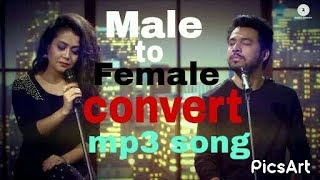 Male song converter to female voice
