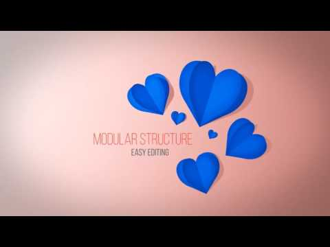 Paper Love Titles After Effects Template