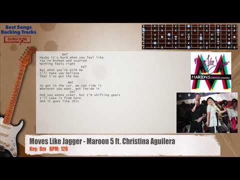 Moves Like Jagger Maroon 5 Ft Christina Aguilera Guitar Backing