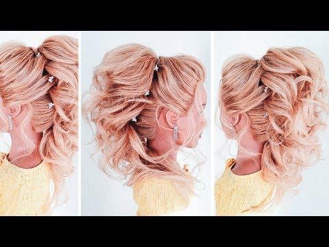 ★ ВЫСОКИЙ ХВОСТ ИЗ ЛОКОНОВ на средние волосы ★ БЕЗ накладных прядей ★ High Tail With Curls★LOZNITSA