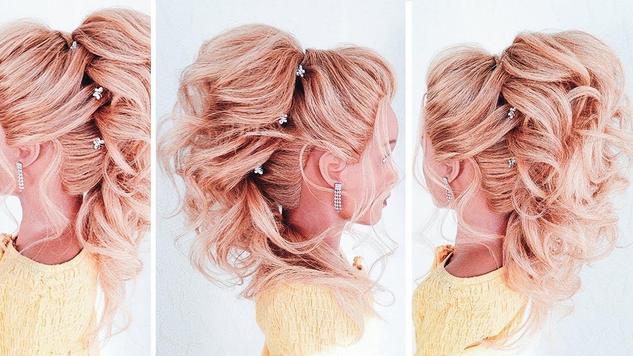 Восточный хвост на средние волосы