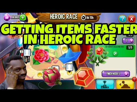 TIPS FOR GETTING ITEMS FASTER   HEROIC RACE HIGH SCORE DRAGON