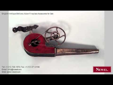 English Antique Bellows Adam Fireplace Accessories for