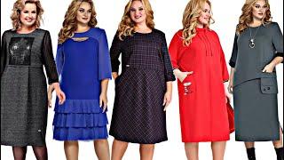 Бешеной КРАСОТЫ трикотажные платья Новинки 2021 Unreal beauty elegant dresses for full 2021