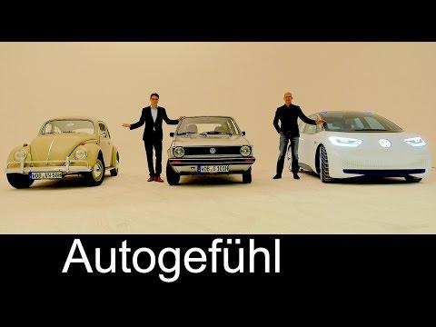 VW Beetle vs Golf I vs Volkswagen I.D. Evolution of Design interview & review - Autogefühl
