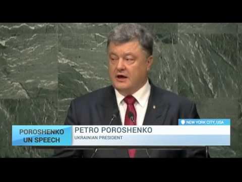 Poroshenko at UN: Ukraine president demands Russia stop aggression