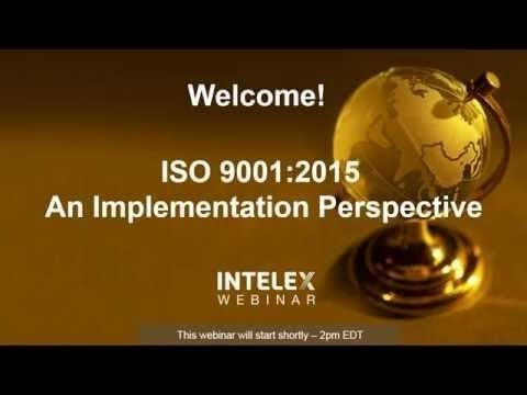 ISO 9001:2015  - An Implementation Perspective
