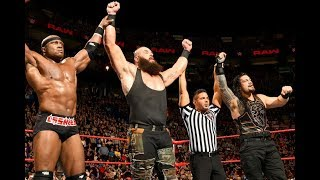 Braun Strowman & Bobby Lashley make Roman Reigns safe from jinder mahal   WWE RAW April 30th 2018