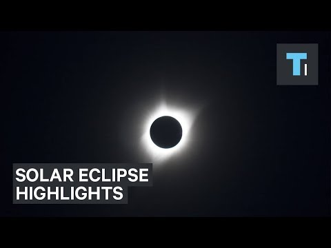 Stunning footage shows the highlights of the 2017 total solar eclipse