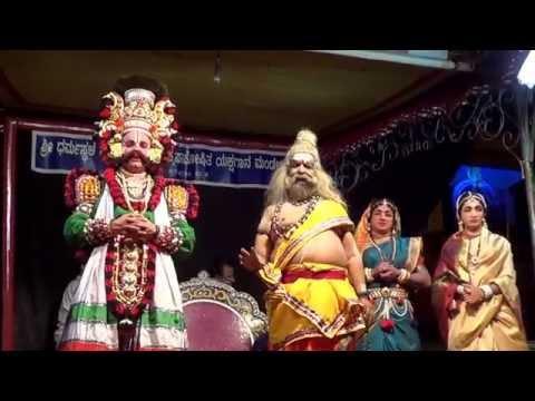 Yakshagana -- Kumble Sundara rao as Chandakaushika maharshi