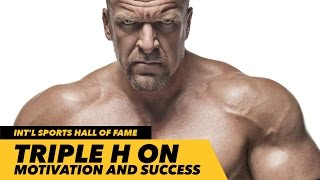 triple h induction speech at international sports hall of fame   generation iron