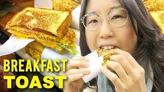 $3 KOREAN BREAKFAST TOAST in tiny shop 🍞 Busan Day 6