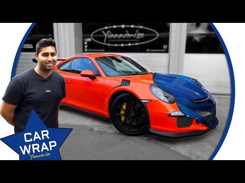Anish Vin's Porsche GT3RS wrapped Gloss Blue