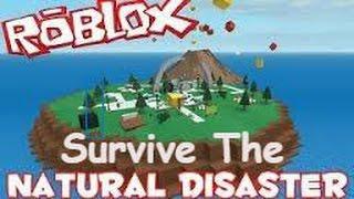 Jouer Roblox Natural Disaster Survival! Regardez-moi essayer de survivre à la dure