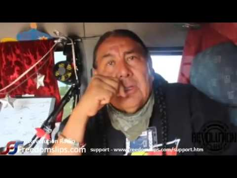 Reports from North Dakota pipeline protests - Tom Goldtooth (MIRRORED) REVOLUTION RADIO