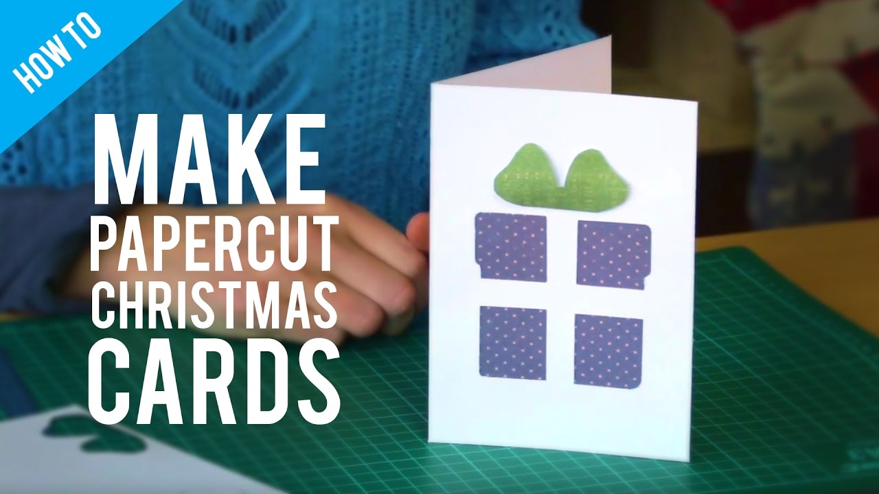 How To Make Paper Cut Christmas Cards  Blank Xmas Cards
