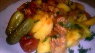 Жаркое из свинины с картошкой Как приготовить жаркое?