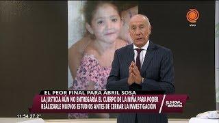 La justicia no le entregará el cuerpo de Abril Sosa a la familia