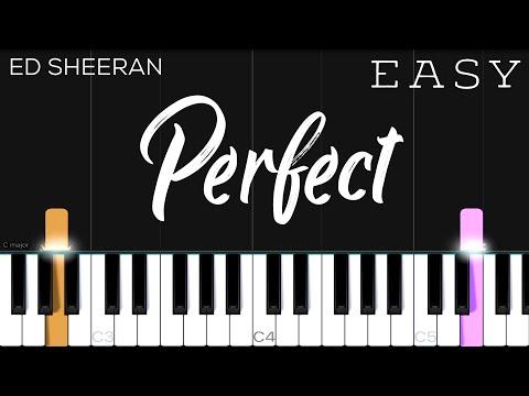Perfect - Ed Sheeran | EASY Piano Tutorial