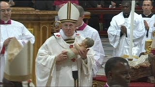 Papa Francis'in ilk Noel ayini