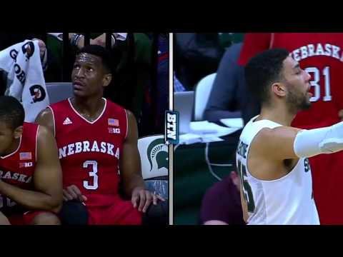 FULL Game. Michigan State Spartans @ Nebraska Cornhuskers 20.01.16  NCAAM Basketball