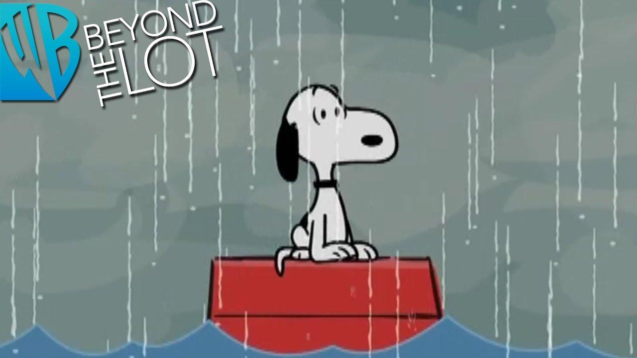 Snoopy Dog House Rain