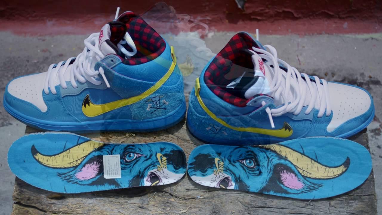"Familia Skates X Nike SB Dunk High Blue OX"""