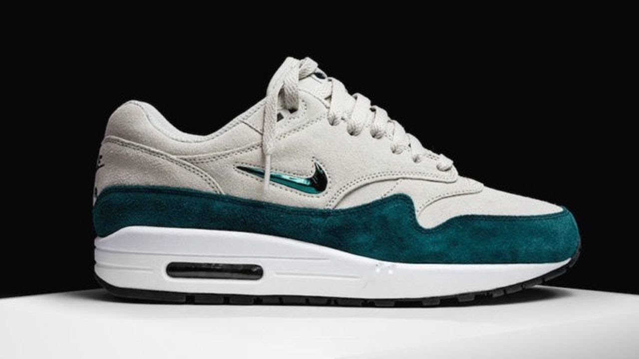 brand new 05482 b147c The Nike Air Max 1 Jewel Atomic Teal Is Here