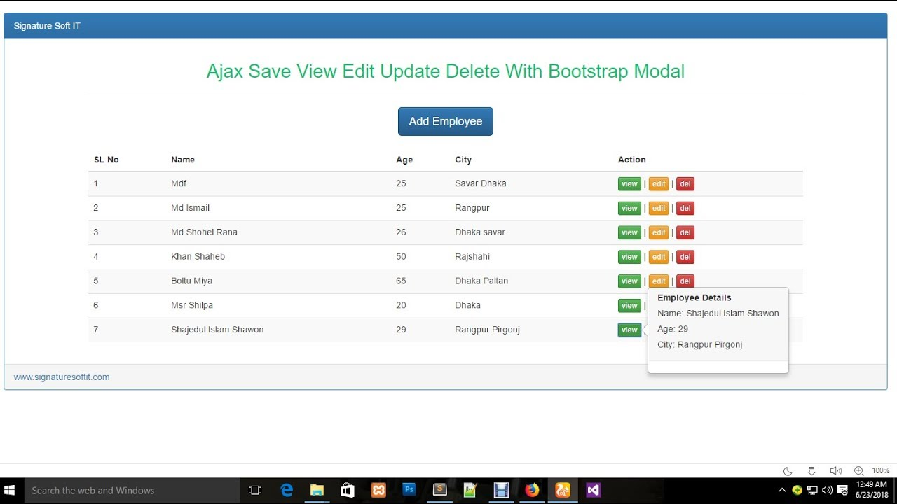 Ajax Insert Save View Edit Update Delete With Bootstrap Modal & Popover2