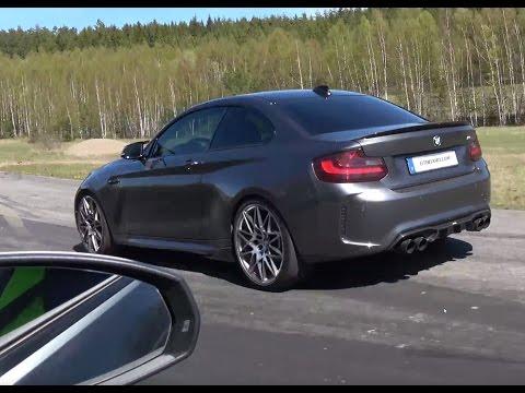 [4k] Audi RS3 (360 HP) vs BMW M2 6-speed manual (370 HP)