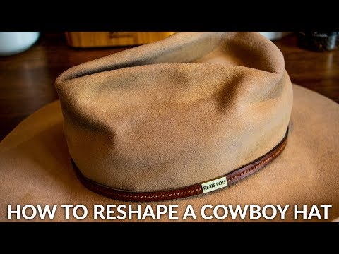 Reshape A Cowboy Hat At Home