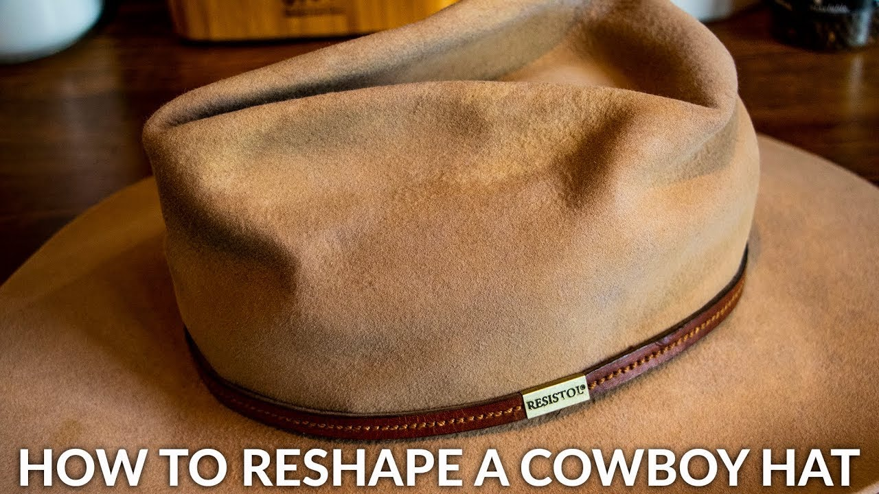 Reshape A Cowboy Hat At Home Youtube