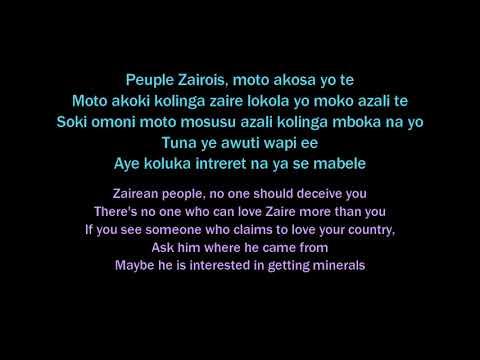 Mobutu Sese Seko translated Lyrics